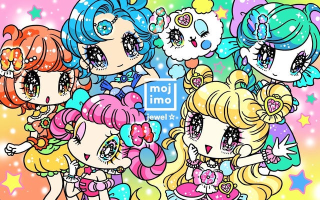 FONT WORKS「mojimo」mojimo-jewel☆ビジュアルイラスト